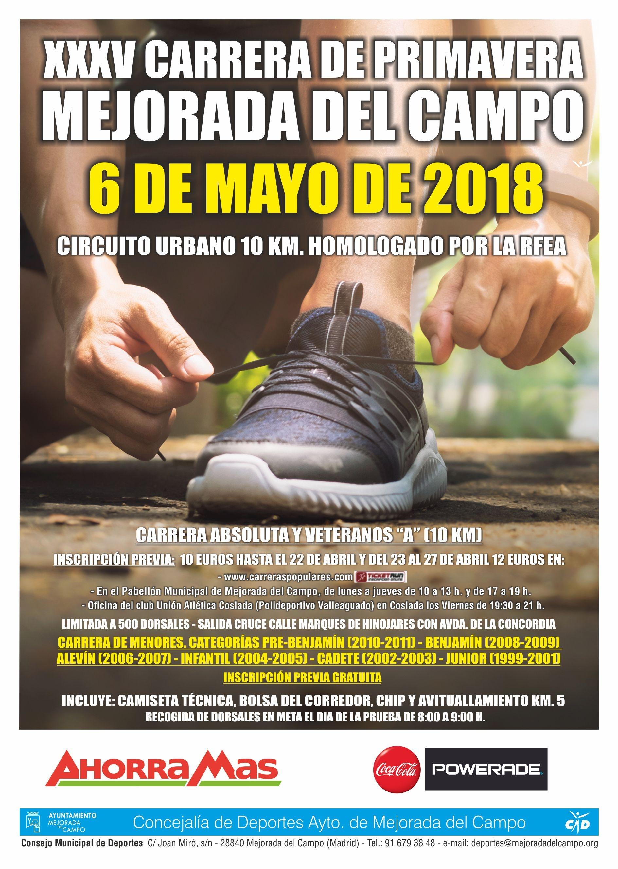 XXXV CARRERA DE PRIMAVERA MEJORADA DEL CAMPO